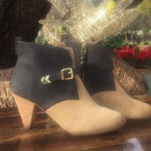 Matt Bernson  brushed leather suede boots tan/gray